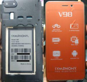 Symphony V98 Flash File HW1 V9 Firmware