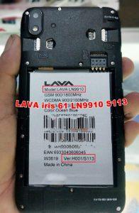 Lava iris 61 LN9910 Flash File