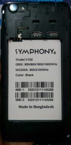 Symphony V102 Flash File Firmware Stock ROM