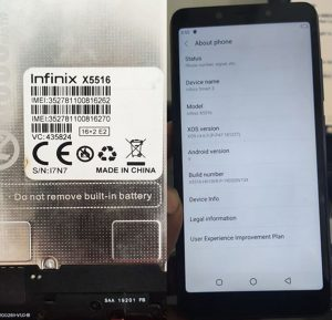 Infinix X5516 Flash File