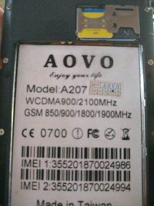 AOVO A207 Flash File