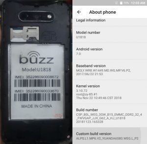 Buzz U1818 Flash File