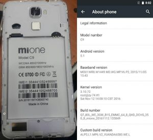 Mione C9 Flash File