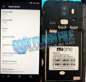 Mione X2 Flash File
