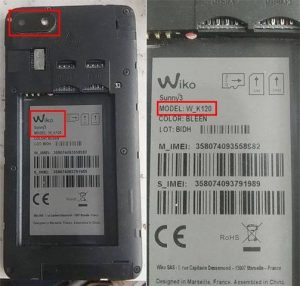 Wiko Sunny3 W_K120 Flash File